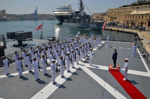 2016年幹部候補生 練習艦隊 遠洋航海18 NATO海上部隊No09