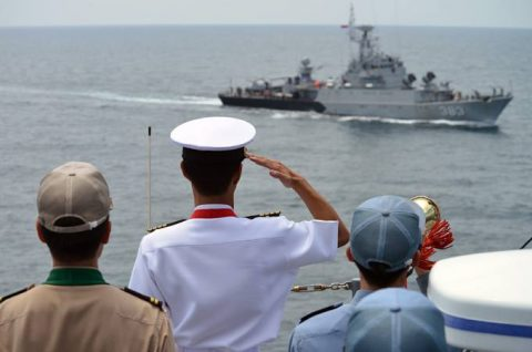 24次海賊対処行動水上部隊25 インドネシアのジャカルタに入港NO7