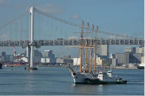 チリ共和国海軍練習帆船「エスメラルダ」晴海ふ頭入港時の様子No1