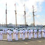 チリ共和国海軍練習帆船「エスメラルダ」晴海ふ頭入港時の様子