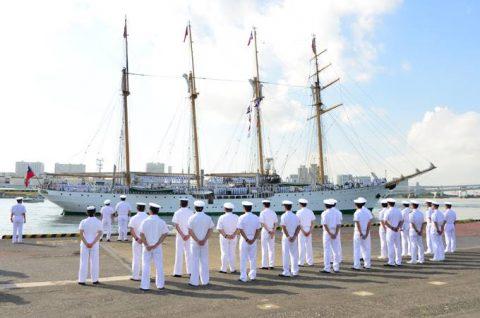 チリ共和国海軍練習帆船「エスメラルダ」晴海ふ頭入港時の様子No3