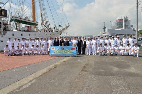 チリ共和国海軍練習帆船「エスメラルダ」晴海ふ頭入港時の様子No4