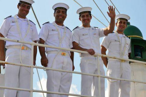 チリ共和国海軍練習帆船「エスメラルダ」晴海ふ頭入港時の様子No5