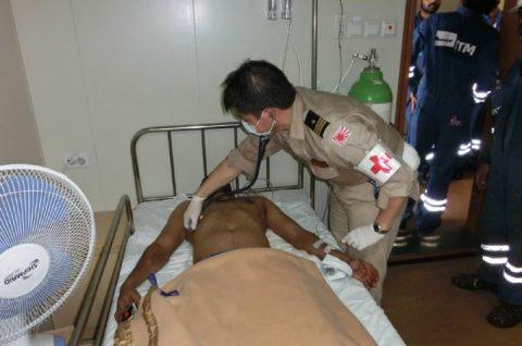 海上自衛隊 海賊対処法 水上部隊(25次隊)12 医療支援要請No6