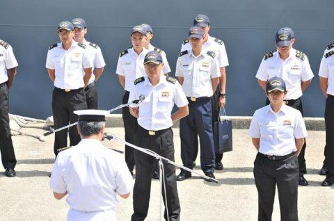 日星(シンガポール海軍)親善訓練 入港歓迎行事No3