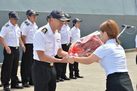日星(シンガポール海軍)親善訓練 入港歓迎行事No5