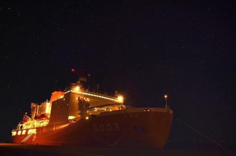 (南極観測船)砕氷艦しらせ 稚内市の一般公開 写真No1