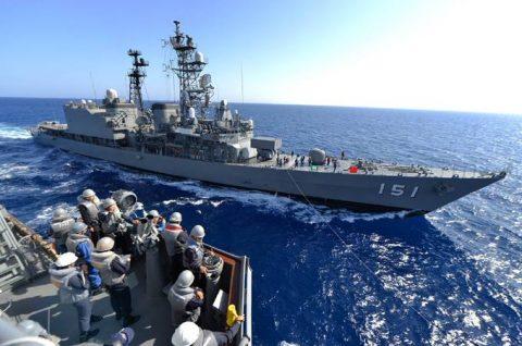 2016 海上自衛隊 練習艦隊 遠洋航海21かしま・あさぎり・せとゆきNo5