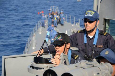 2016 海上自衛隊 練習艦隊 遠洋航海21かしま・あさぎり・せとゆきNo6