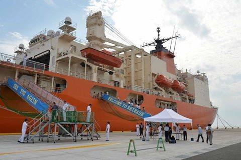 海上自衛隊 砕氷艦しらせ 境港市の一般公開 写真(南極観測船)1