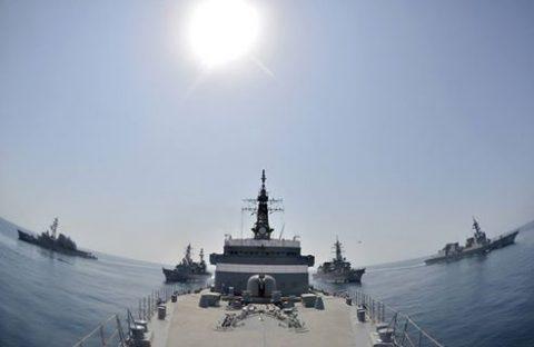派遣海賊対処行動水上部隊(25次隊)16と練習艦隊の記録22No01