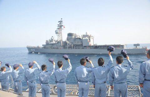 派遣海賊対処行動水上部隊(25次隊)16と練習艦隊の記録22No10