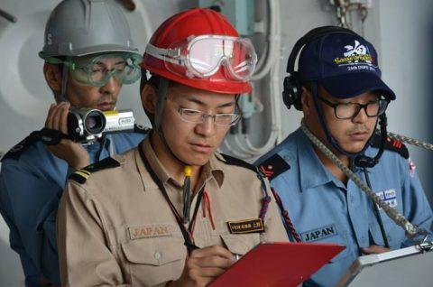 海上自衛隊 海賊対処行動水上部隊(25次隊)13すずつき&いなづまNo4