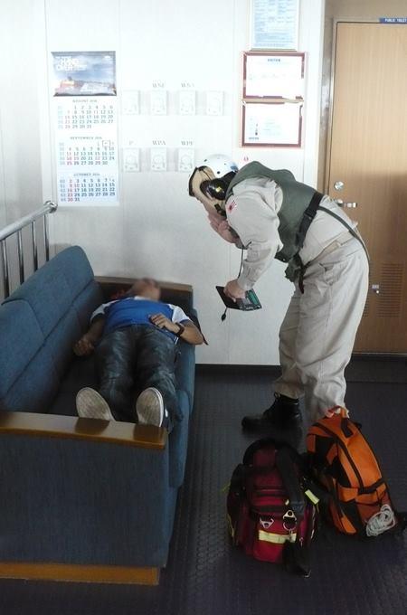 海上自衛隊 海賊対処法 水上部隊(25次隊)13 医療支援要請2No5
