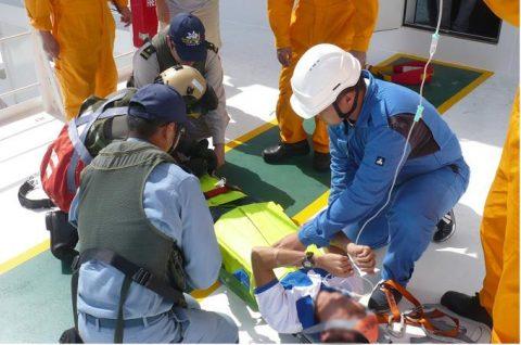 海上自衛隊 海賊対処法 水上部隊(25次隊)13 医療支援要請2No7