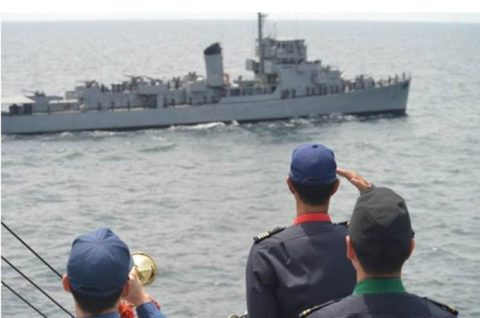 海賊対処水上部隊(24次隊)27フィリピン(マニラ)に入港No4