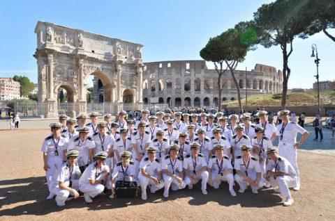 2016年幹部候補生 練習艦隊 遠洋航海19コロッセオ、トレビの泉No09