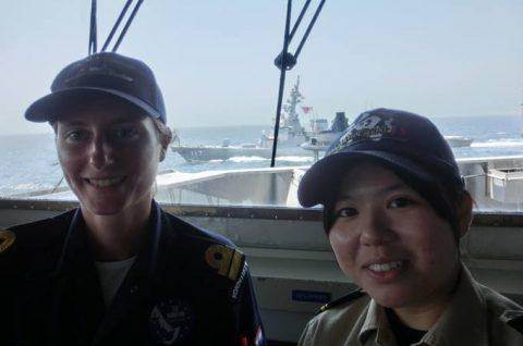 海上自衛隊 海賊対処行動水上部隊(25次隊)14すずつき 蘭海軍No08