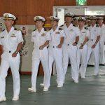 派遣海賊対処行動水上部隊(24次隊)30ゆうぎり帰国行事の様子