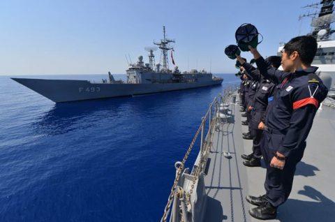 2016 海上自衛隊 練習艦隊 遠洋航海20 トルコ海軍親善訓練No1