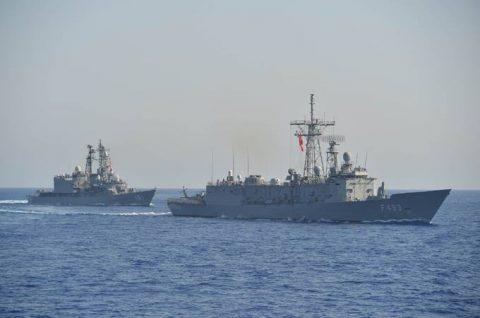 2016 海上自衛隊 練習艦隊 遠洋航海20 トルコ海軍親善訓練No2