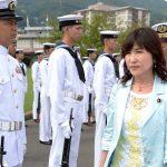 稲田朋美防衛大臣 海上自衛隊佐世保基地視察時の記録