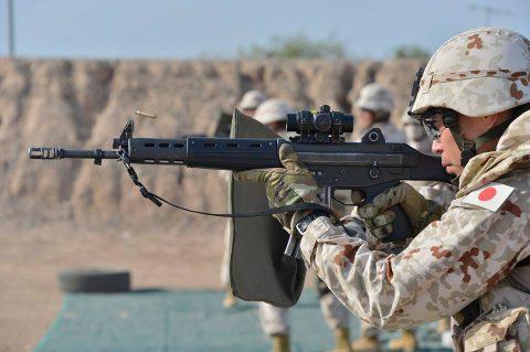 防衛省海上自衛隊 6次派遣海賊対処行動支援隊の記録4 射撃訓練No1
