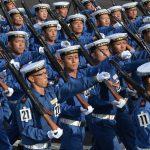 平成28年度 海上自衛隊 観閲式2016予行訓練(師団統一訓練)