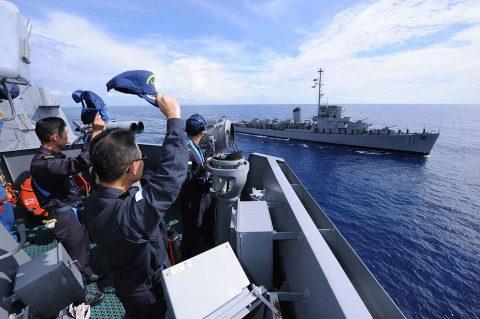 海上自衛隊豪州海軍主催多国間海上共同訓練(カカドゥ16)ふゆづきNo2