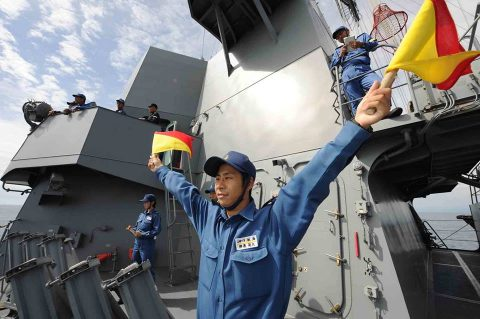 海上自衛隊豪州海軍主催多国間海上共同訓練(カカドゥ16)ふゆづきNo3