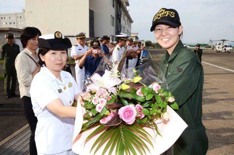 女性(哨戒 )ヘリコプター航空士初の第1配置員No3