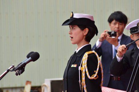 海上自衛隊(海自)潜水艦あさひ命名・進水式/三菱重工業長崎造船所No2