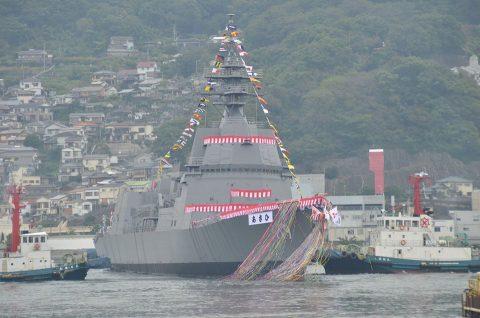 海上自衛隊(海自)潜水艦あさひ命名・進水式/三菱重工業長崎造船所No6