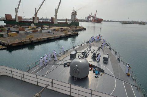 2016 海上自衛隊 練習艦隊 遠洋航海22在ジブチ日本国大使館No1