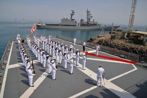 2016 海上自衛隊 練習艦隊 遠洋航海22在ジブチ日本国大使館No3