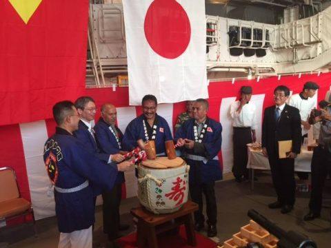 護衛艦ふゆづきの寄港 在東ティモール日本国大使館Facebook No12