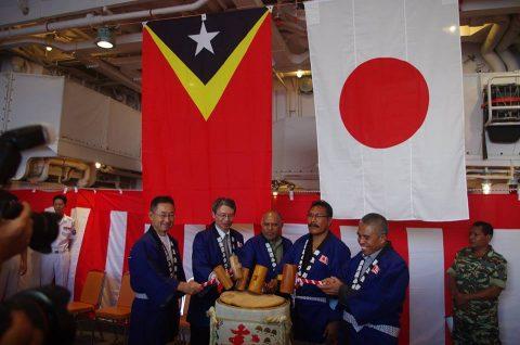 護衛艦ふゆづきの寄港 在東ティモール日本国大使館Facebook No15