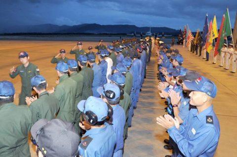カカドゥ16 出迎え式 P-3C 2機 鹿屋航空基地に帰国No8