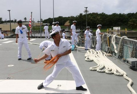 護衛艦たかなみ・ニュージーランド海軍主催国際観艦式に参加No05