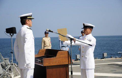 海上自衛隊 海賊対処水上部隊(25次隊)19永年勤続者表彰式No06