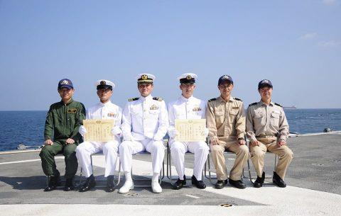 海上自衛隊 海賊対処水上部隊(25次隊)19永年勤続者表彰式No08