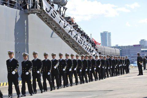 平成28年 海上自衛隊幹部候補生 遠洋練習航海2016部隊 帰国No04