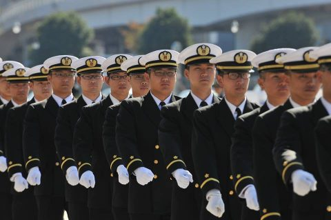 平成28年 海上自衛隊幹部候補生 遠洋練習航海2016部隊 帰国No05