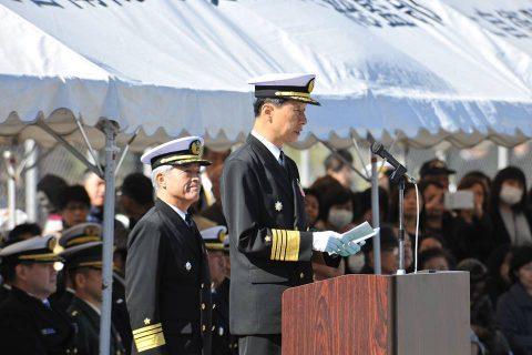 平成28年 海上自衛隊幹部候補生 遠洋練習航海2016部隊 帰国No07