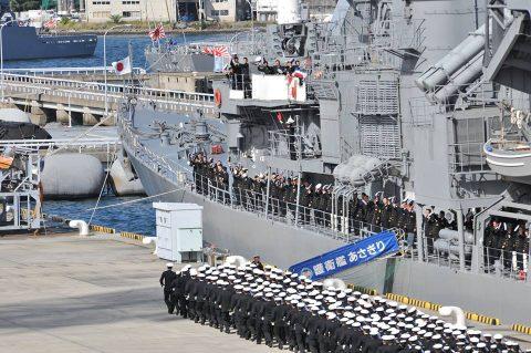 平成28年 海上自衛隊幹部候補生 遠洋練習航海2016部隊 帰国No10