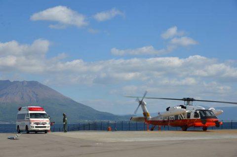 海上自衛隊 救難ヘリコプターUH-60Jの災害派遣(急患輸送)No6