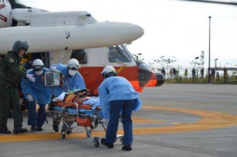 海上自衛隊 救難ヘリコプターUH-60Jの災害派遣(急患輸送)No7