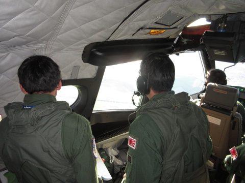 防衛省 海上自衛隊 ニュージーランドへの国際緊急援助隊(P-1)No3