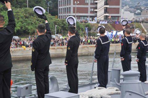 防衛省海上自衛隊 派遣海賊対処行動水上部隊(26次隊)きりさめ出国No8