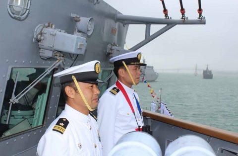ニュージーランド海軍主催国際観艦式における護衛艦たかなみの記録No1